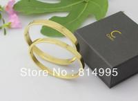 Min order $25(mix order) 2014 new arrival fashion titanium steel letter bracelet,diameter 6.0cm,three color