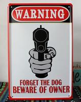 20X30cm WARNING GUN SHOOT Wall Decor Metal Signs Vintage Poster Tin Sign Retro Painting