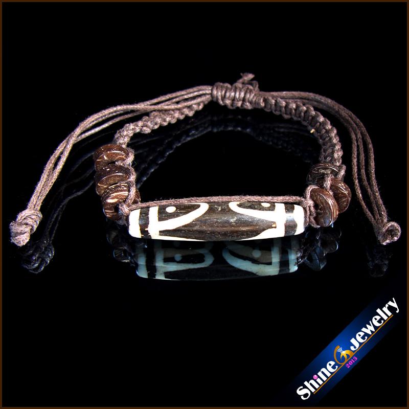 Wholesale Women / Men's Cuff Tibetan Yak Bone Hemp Bracelet Wrist 100% Handmade Free shipping(China (Mainland))