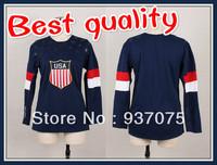 Cheap Lady's Team USA Hockey Jersey Sochi 2014 Winter Olympic Hockey Jersey women's jersey blank and custom