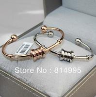 Min order $25(mix order) 2014 new arrival fashion titanium steel spring open bracelet,three color