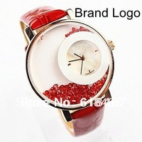 Wholesale New 2013  Fashion Luxury Brand Women Dress Watch With D logo&Rhinestone Watches