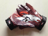 Football Gloves 2013 new hot sale American Football Gloves Denver Game Orange Gloves Free Sizes
