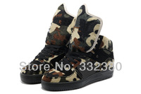 Men & Women Fashionable Jeremy Scott Big Tongue Camo Sneakers Jeremy Scott Casual shoes Free Shipping