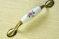 """Bronze Cabinet Wardrobe Ceramic Cupboard Drawer Door Knob Pulls Handles 96mm 3.78"""" MBS238-7"""