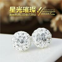 Full rhinestone stud earring fashion earrings anti-allergic female accessories