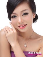 Fashion gold 2013 white ball necklace accessories