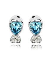 Silver fashion personalized 925 austria crystal stud earring women's drop earring accessories