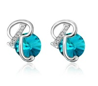 Personalized letter stud earring r austria crystal earring female earrings jewelry