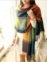 Free shipping 2014classic style plaid scarves lady scarves autumn and winter warm scarf cashmere scarf