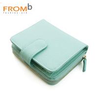 2014 NEW New Women's fromb wallet female short design 2013 female wallet cowhide zipper 3010203