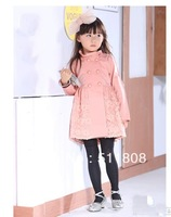 Lotus leaf collar high-grade girls spring 2014 Korean windbreaker princess coat outercoat free shipping