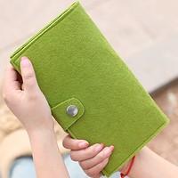 2014 NEW High quality wool felt wallet card case passport holder ticket holder coin purse women's passport long design 3122710