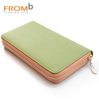 2014 NEW New Women's fromb wallet 2013 wallet female girl long zipper design cowhide clutch 3010201