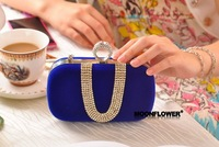 new Fashion Korean women Clutch Rings Evening Bag crystal dimond Clutch evening bags party bag with shoulder chian