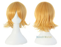 Synthetic Yellow Cosplay Straight Short Wigs (NWG0CP60355-YE1)