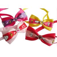 Armi store Handmade Cute animal Prints Ribbon Dog Collar Bow  Tie31011 Small Pet Accessories Grooming