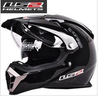 Free shipping, genuine dual lens Motocross Helmets LS2 MX455 motorcycle helmet, full helmet, dual lens, there are airbags.