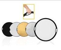 "Wholesales 110cm 5 in 1 43"" Photography Photo Portable Grip Reflector 5in1 Circular Collapsible Multi Disc R 30200221"