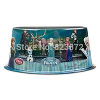 Free shipping Hot Movie FROZEN Toy Frozen Figure Play Set Frozen Princess Anna Elsa Olaf Sven Princess Dolls for Girls