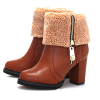 free shipping New Winter Snow Boots women 2014 new hot shoes  high heel Shoes