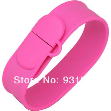 Silicon Slap Wristband USB flash disk 16GB Rubber Bracelet thumb dr
