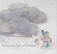 Free Shipping Wholesale 100pcs/Lot Jewelry Display Transparent Plastic Ring Holder Sheet 38mm Dia Set Card