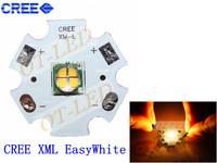 5PCS  12V 1A CREE Xlamp XML EasyWhite 4chips led  XM-L  U2 12W 12V Warm White LED with 20mm Heatsink for spot light/Bulb/Lamp