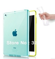 TPU soft Transparent Crystal Clear Durable material translucent colorful protect case for Apple iPad mini 1 2 ipad 2 3 4 5 air