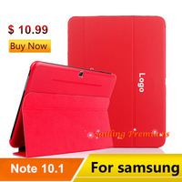 3 in 1, New P600 Business Protective Smart Case Cover with Stand for Samsung Galaxy Note10.1 P600 P601 Case + Stylus + Film