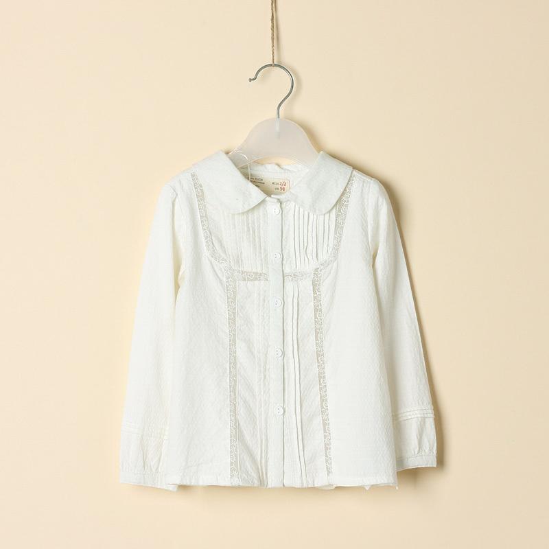 White Blouse For Girls - Silk Pintuck Blouse