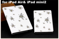 Lovely Little Bee PU Leather Stand Smart Case For iPad Air iPad5 for iPad mini2