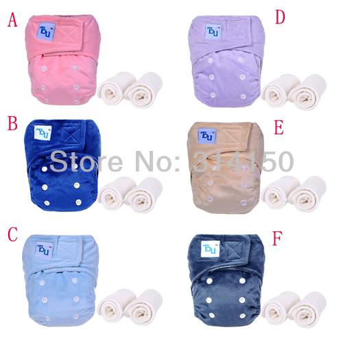 2014 Newborn Baby Bamboo Diapers 100 Bamboo Fiber Cloth Diaper Nappies Velcro Diaper 2bamboo inserts 1pcs