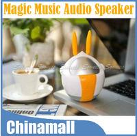 360 Degree Cartoon Rabbit God Style Vibration Resonance 3.5mm USB Music Audio Speaker Express Shipping & Drop Shipping