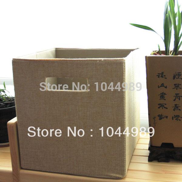 2015 New Fashion Linen Drawers Wardrobe Clothes Fold N Crate Book Magazine Debris Storage Box(China (Mainland))