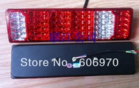 iron base 24v led truck tail light Universal LED electronic rear light  24V high-intensity low power / Auman Dragon Tail 80 leds