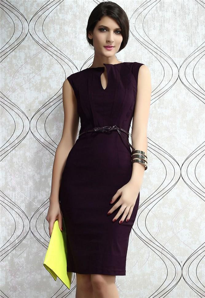 Brilliant Office Women Work Wear Bodycon Dress 2014 Summer Sexy Pencil Dresses