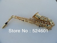Wholesale alto saxophone E flat gold on the surface of the instrument
