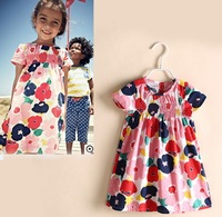 New Arrival 2014 Fashion Brand Girls Dresses European Style Girl Dress Hot Selling Children Dress Kids Clothes