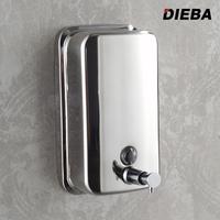 304 stainless steel manual soap dispenser soap box bathroom wall mounted hand sanitizer bottle shower