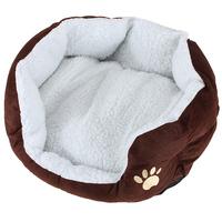 New Pet Dog Puppy Cat Soft Fleece Warm Bed House Plush Cozy Nest Mat Pad Coffe Free shipping