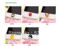 Super Cute Cartoon Model Dust Plug for iphone 4 4S for iphone 5s Anti Dust Plug For Ipad Mini Ipod Touch 5 Free Shipping