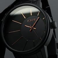 Brand New Mens Luxury Full Steel Quartz Watch Analog Men's Watch Black Wristwatch for Gift Men's Quartz