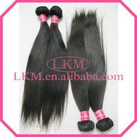 "LKM Hair Products Peruvian Human Hair Weave Straight 4Pcs/lot 12""-30"" 100% Human Hair Extension Free Shipping"
