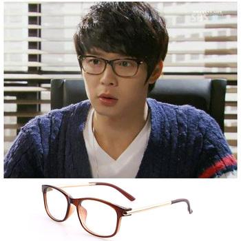 retro big black-rimmed glasses frame plain reading glasses reinforcement design ...