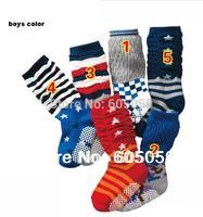 Girls boys colors select baby Socks anti slip children knee-high sock retail 2014 New uc112