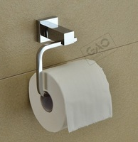 Free shipping copper paper towel holder square toilet paper holder copper paper holder roll holder fashion bathroom accessories
