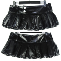 Free shipping Queen 2013 women's sexy costumes leather miniskirt