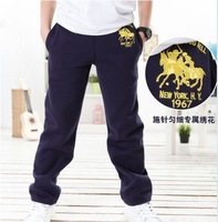hot sale kids pants with fashion Shuttle Embroidery, children's popular long casual pants