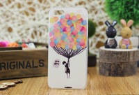 Free ship 10pcs/lot New Cover for iphone 4 4s 5s Simple style Gift Fashion Loverly Balloon Design plastic Back For iPhone 5 5S